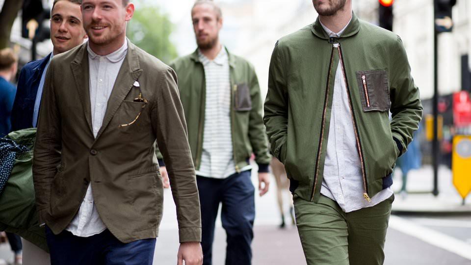 Зеленый цвет в мужской одежде