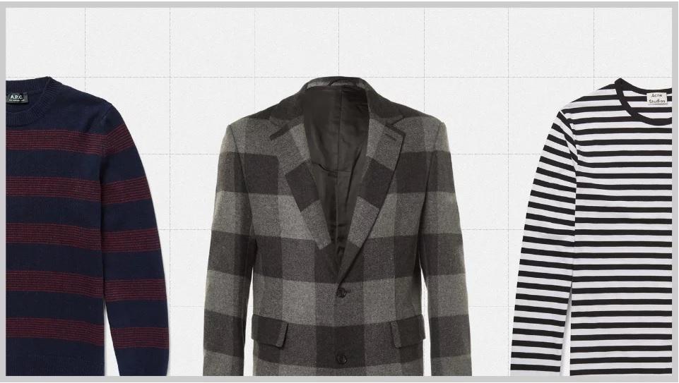 полосы в мужской одежде