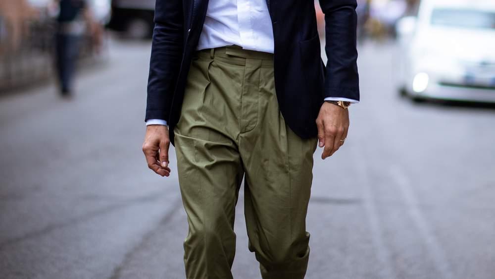 Плиссированные брюки для мужчин